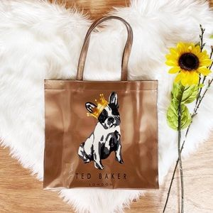 Ted Baker French Bulldog w/ Crown Large Icon Tote